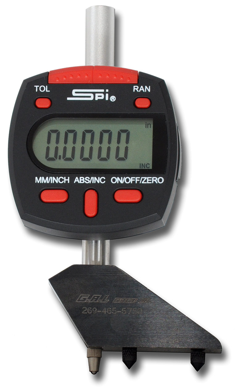 Digital Pit Depth Gauge w/Probes & Rods 1'' - 6''